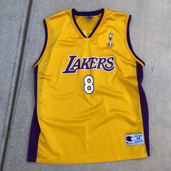sports shoes a7618 6e5aa Vintage Champion LA Lakers Kobe Bryant Jersey #8